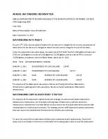 2012 Waterworks – Annual Information