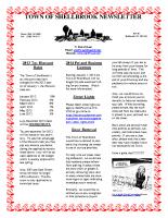 Newsletter Jan & Feb 2013