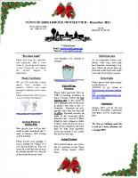 Newsletter – January 2014