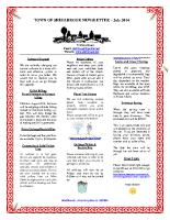 Newsletter – July 2014