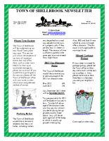 Newsletter March & April 2013
