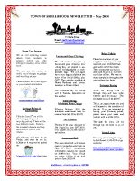 Newsletter – May 2014