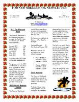 Newsletter Nov & Dec 2012