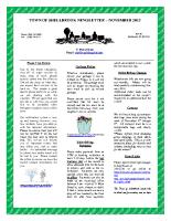 Newsletter – November 2013