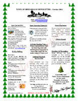 Newsletter -October 2014