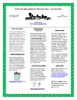 Newsletter – September 2013